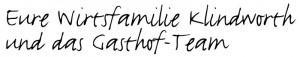 Eure Wirtsfamilie Klindworth und das Gasthof-Team